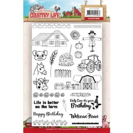 YCCS10039  ~ Country Life ~ Clear Stamps ~ Yvonne Creations